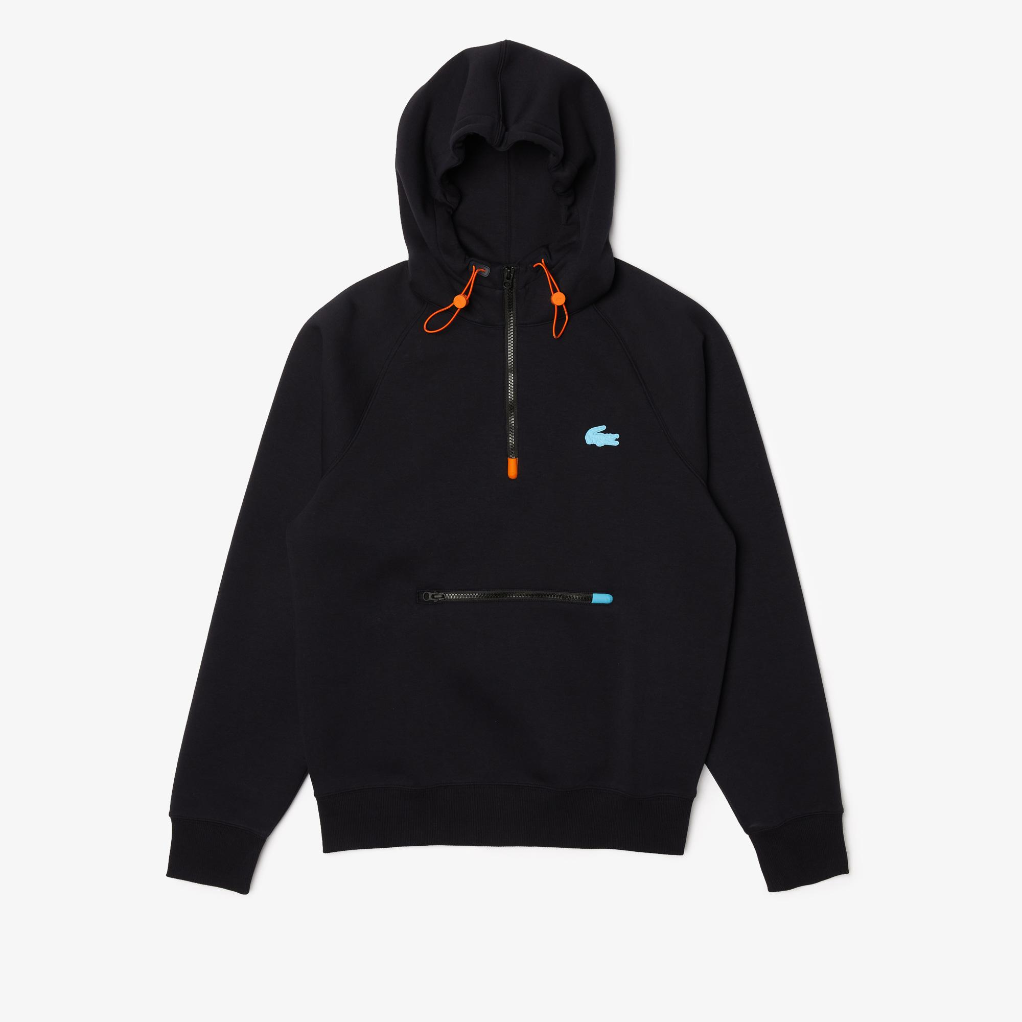 Lacoste Men's Colored Details Hooded Pullover Sweatshirt