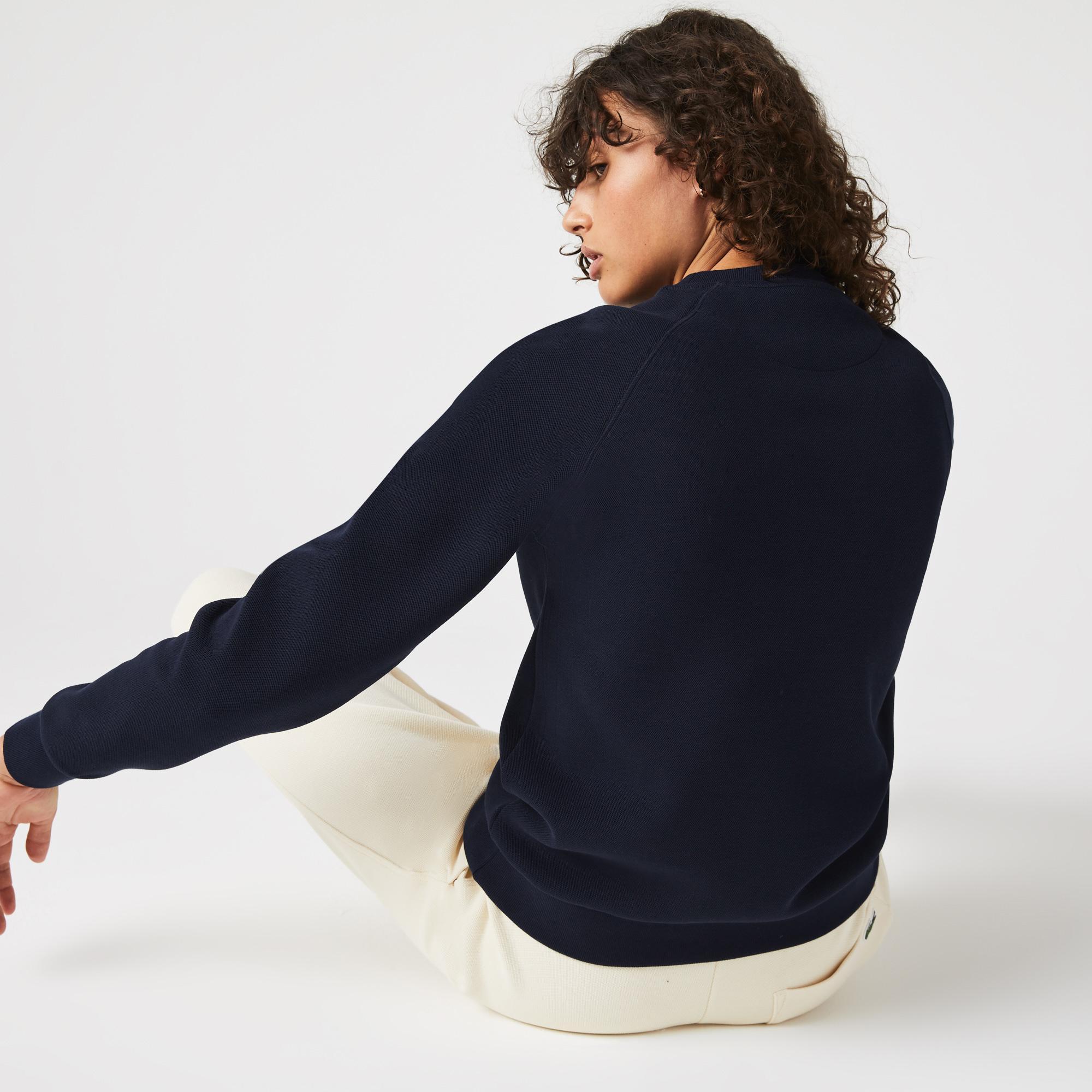 Lacoste Bluza damska z mieszanej bawełny, z okrągłym dekoltem