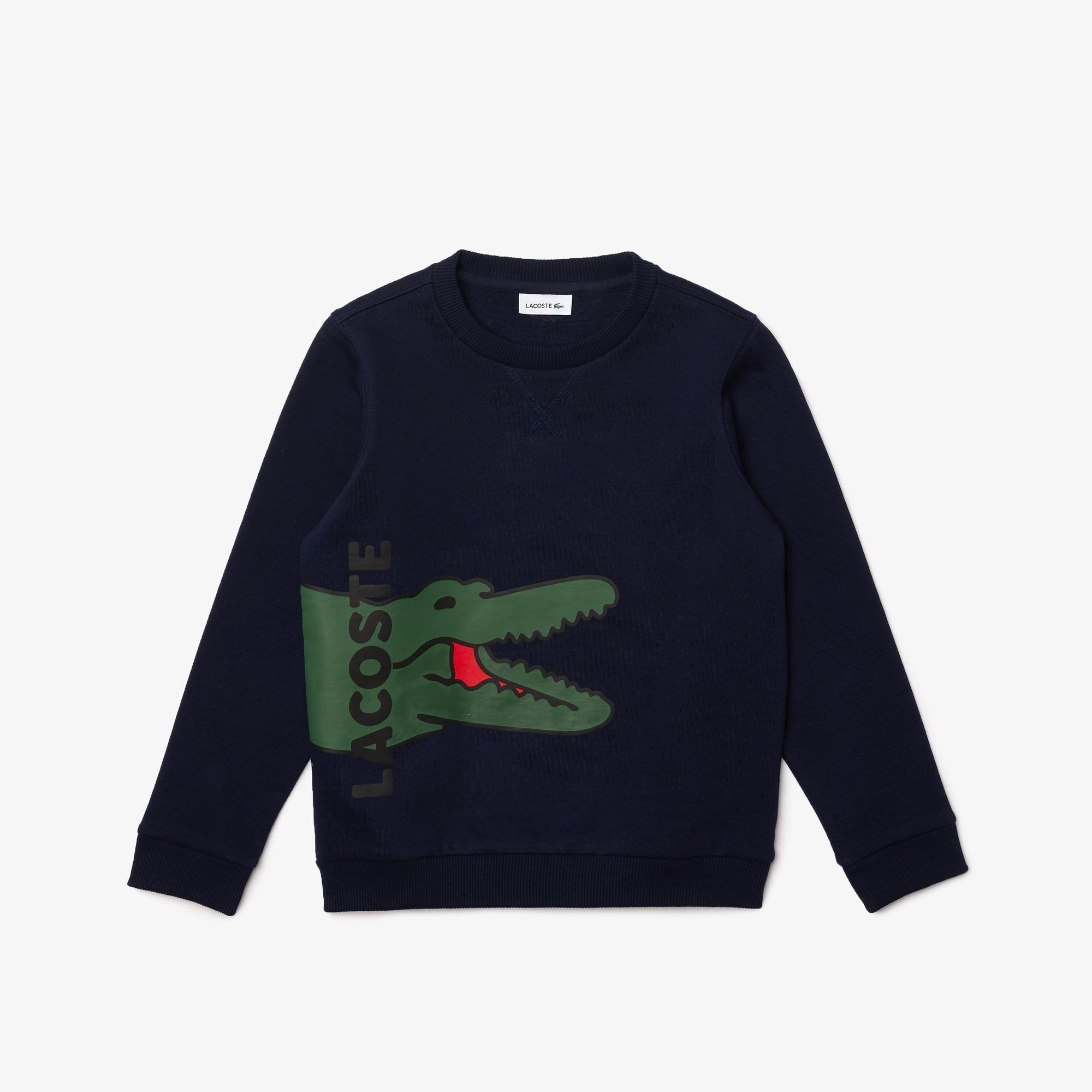 Lacoste Chłopięca bluza polarowa z nadrukiem krokodyla