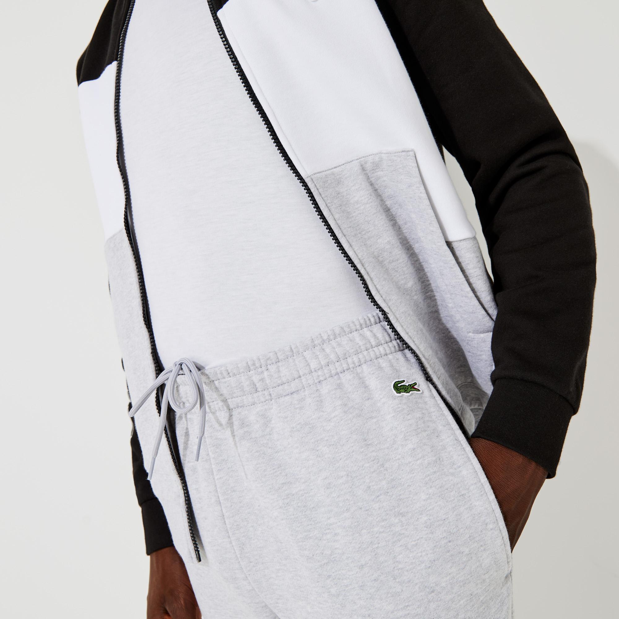 Lacoste Męska bluza polarowa, z nadrukiem, w bloki kolorystyczne