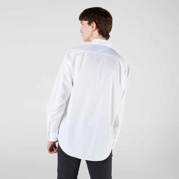 Lacoste Męska bawełniana koszula Regular Fit z drobnej piki