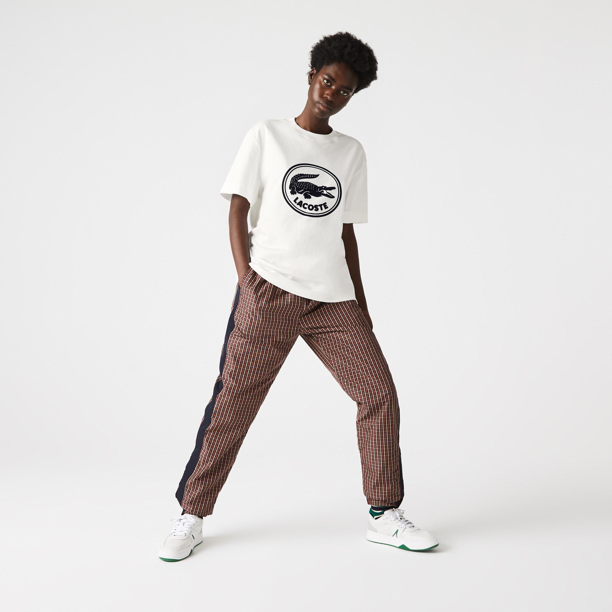 Lacoste Men's Crew Neck 3D Printed logo Cotton T-shirt