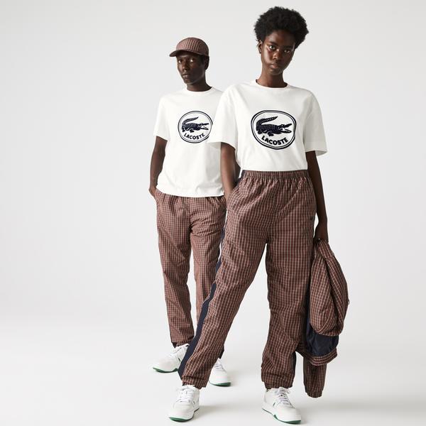 Lacoste T-Shirt męski z bawełny, z okrągłym dekoltem, z nadrukiem Logo 3D