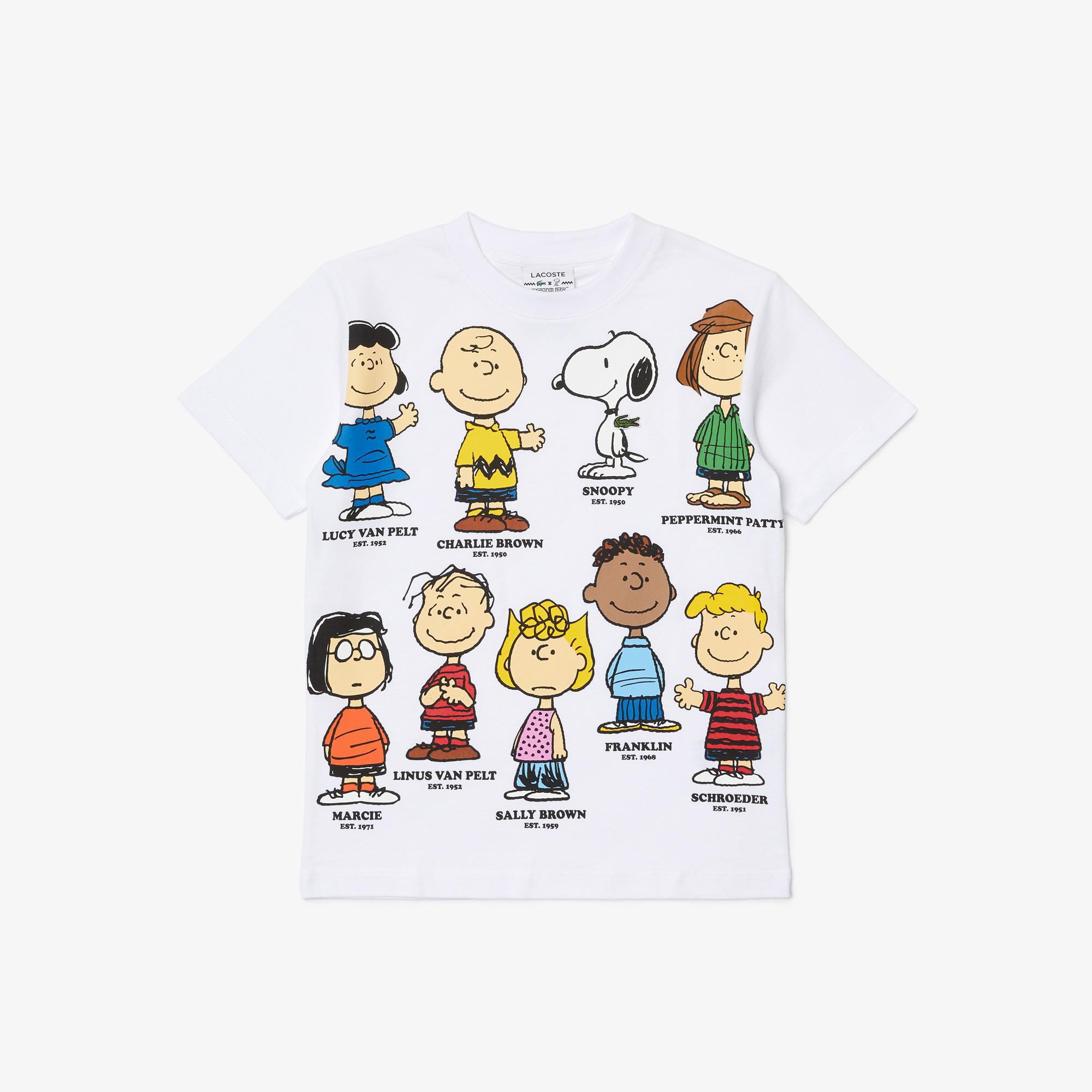 Lacoste x Peanuts Chłopięcy T-shirt z bawełny organicznej, z nadrukiem